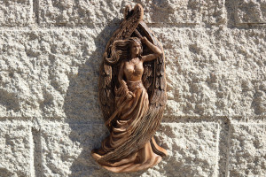 Freya statue ,Norse pagan decor, Pagan goddess statue, Freyja Wood carvings wall art