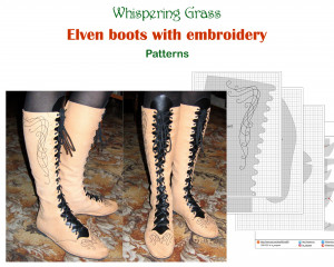 Digital PDF Pattern: Elven Boots with Embroidery