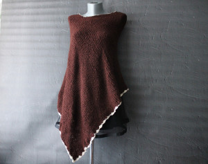 Crochet poncho for women Loose knit poncho Shoulder cape Mohair poncho