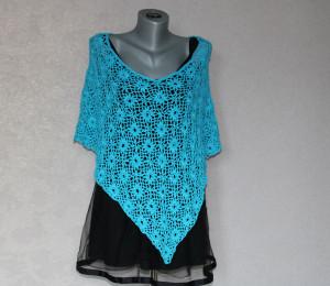 Crochet poncho women Summer lace Boho poncho Cotton cape Shoulder cover up
