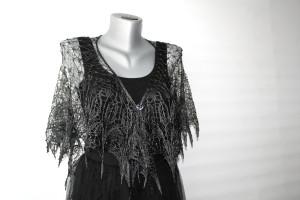 Bridal shawl lace Knit silk shawl fringe Short wedding cape Bridesmaid shawl