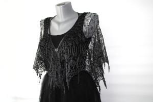 Shoulder shawl cape Knit silk wedding shawl fringe Bridal and bridesmaids shawl