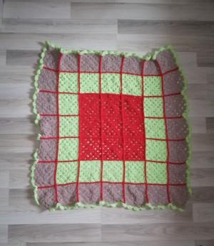 Colorful blanket, Patchwork crochet blanket, Patchwork quilt