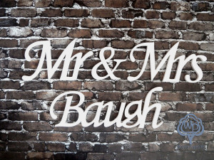 Mr and Mrs Last name Mr and Mrs Table Sing Wedding name table sign, custom  table sign, mr and mrs name sign Wedding wooden letters