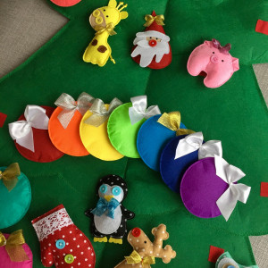 Christmas felt tree New Year felt toy Burdock tape babies safety and develop motor skills toys Home decoration