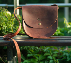 Brown crossbody bag, Leather women bag, Leather saddle bag, Crossbody purse, Natural leather, Small leather bag, Vintage leather bag