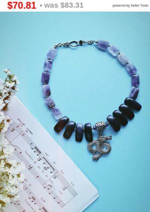 "big sale Amethyst Necklace Choker 16.5"",Wedding Birthday Holiday Gift,multibead Necklace,Bohemian Necklace,Amethyst Gemstone Necklace,vio..."