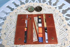 Personalized leather travel wallet women & men/Slim leather wallet for passport, cards and money/PERSONALIZED/6 colors
