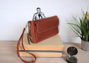 Zip around wallet,leather wristlet wallet,leather clutch,leather clutch purse,brown clutch bag,leather wristlet,leather pouch,leather wallet