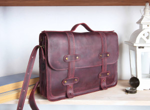 Leather briefcase men/Leather satchel women/Leather messenger/Crossbody & Shoulder laptop bag/6 colors/PERSONALIZED/Real leather