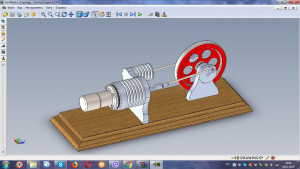 Drawings High Temperature Stirling Engine, gamma type, assembly drawings, Physics Toys, stirling motor , science toys