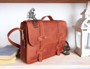 Leather briefcase men/Leather satchel women/Leather laptop bag/Shoulder & Crossbody/6 colors/PERSONALIZED/Full grain leather