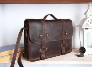 Leather briefcase men/Messenger bag women/Leather satchel women/6 colors/PERSONALIZED/Full grain leather