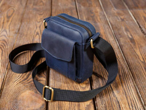 Small leather shoulder bag/Mini crossbody bag/Blue leather handbag/Small camera bag/8 colors/PERSONALIZED/Full grain leather