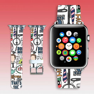 Apple Watch band collage Leather iWatch strap iWatch band Leather iWatch band Watchband 44 mm iWatch strap 38 mm cool gift watch gift girl