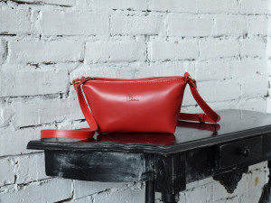 Small leather crossbody bag for women/Evening clutch bag/Available in red and burgundy colors/PERSONALIZED/Real leather