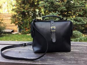 Monogram crossbody purse handmade/Doctor bag purse leather/Shoulder bag/8 colors/PERSONALIZED/Full grain leather