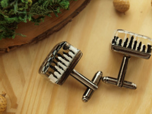 Chess board cufflinks, handmade black and white chess set, chess coach gift, groom geek wedding gift cuff links, chess lover smart guy idea