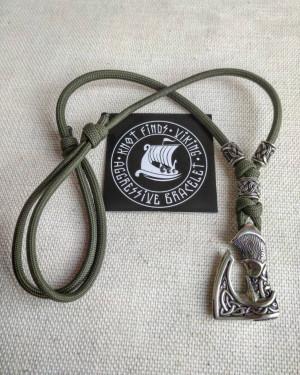 Men's necklace. Paracord necklace with pendant. Necklace Mjolnir. Celtic knot. Northern necklace.