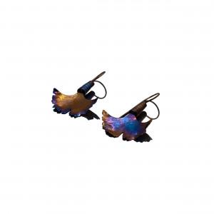 Ginkgo Earrings - Titanium Earrings - Ginkgo Biloba Earrings - Mismatched Earrings - Ginkgo Jewelry - Statement Earrings