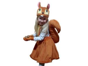 Squirrel Costume Plush Dress Girls Sundress Animal Halloween Costume Copper Orange Christmas Party Children Size Performance Carnival
