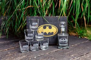 Batman, Batman Gift, Christmas Gift, Wedding Gift, Whiskey Glasses, Whiskey Decanter Set, Batman Christmas Gift, New Year's Gift, Men's Gift