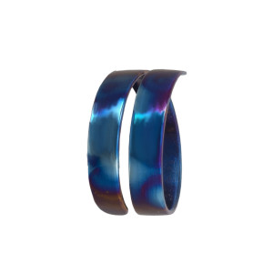 Titanium Ring - Mood Ring - Bands Ring - Simple Promise Ring - Hammered Rings - His And Her Promise Rings