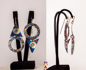 Statement Hoops - Hoop Earrings - Titanium Earrings - Statement Earrings - Mismatched Earrings - Titanium Hoops