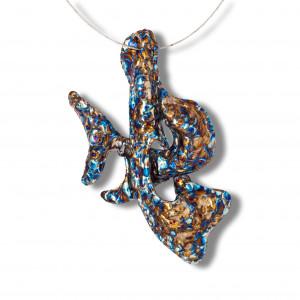 Dolphin Necklace - Titanium Necklace - Statement Necklace - Titanium Jewelry - Unusual Necklace - Iridescent Necklace