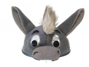 Donkey Hat Costume Grey Winnie the Pooh Eeyore Small One Shrek Benjamin Christmas Birthday Party Gift Halloween Children Adult Toddler Size