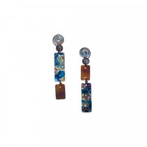 Titanium Stud Earrings - Titanium Earrings - Hypoallergenic Studs - Textured Earrings - Mismatched Earrings