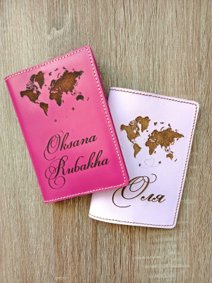 Leather passport cover and luggage tag-keychain-Leather passport cover-Passport holder personalized-Leather passport holder-girls trip gift