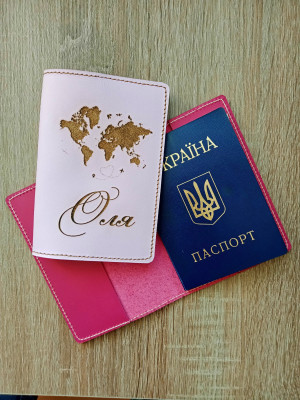 Gift set of personalized passport cover and luggage tag and keychain, Leather passport holder, Leather passport cover, Gift set for women