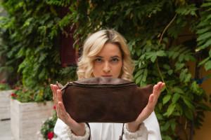 Leather hip bag, Brown belt bag, Convertible Fanny Pack, Bum bag , Small belt bag for women