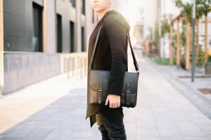 Men leather shoulder bag,Leather men satchel gift,genuine leather bag,Vintage leather crossbody bag,style briefcase men,Satchel leather gift