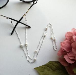 Pearls glasses chain, sunglasses chain, eyeglass string, eyeglass holder, face mask chain, face mask holder, gold glasses chain