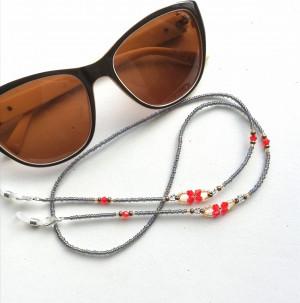 Crystal Flower | Beaded glasses chain, glasses chain, Face mask chain, glasses chain holder, mask lanyard, chain for mask, beaded mask cord