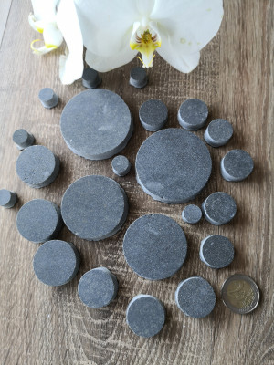 25 mix size gray ceramic granite Mosaic Tiles , ceramic granite mosaic gray color, unique circle mosaic ceramic granite, diy home decor