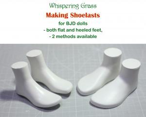 Digital PDF Tutorial: Making shoelasts for BJD doll feet