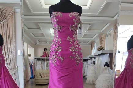 Sherri Hill 2810 Fuchsia prom dress size 0