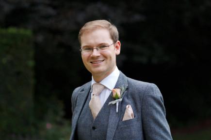 Wedding Print Neckties  Men's skinny Champagne tie  Necktie for Men