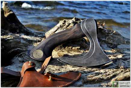 """Kitchen Viking Axe """"BBQ Chef Friend""""- special Meat and not only axe. Butcher axe. Slasher. Chefs cleaver. Bearded ax. 6th Anniversary Gift."""