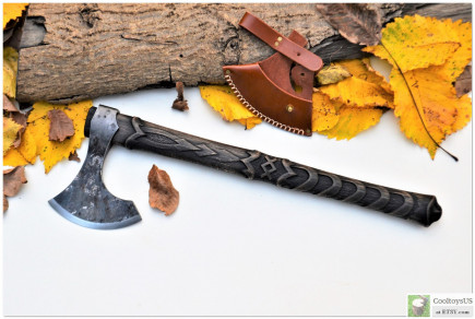 """Viking Axe """"Battle Cocoon""""- Rune """"Inguz"""" is a symbol of Internal growth. Physical, emotional, mental, spiritual gift. 6th Anniversary Gift."""