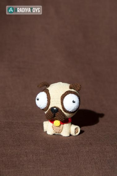 Crochet Baby Pug Amigurumi - ilove-crochet | 565x377